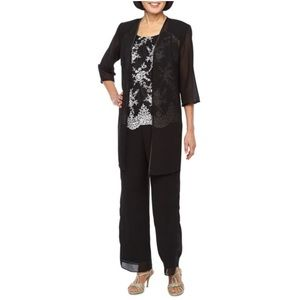 MAYA BROOKE 3 PIECE PANT SUIT